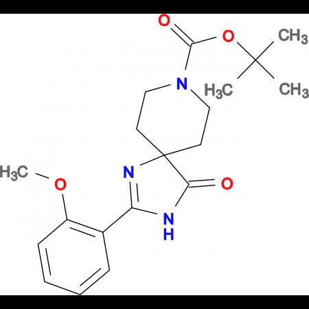 tert-Butyl2-(2-methoxyphenyl)-4-oxo-1,3,8-triazaspiro[4.5]dec-1-ene-8-carboxylat