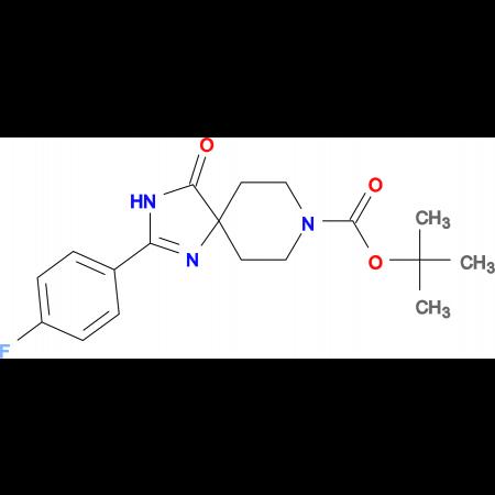 tert-Butyl2-(4-fluorophenyl)-4-oxo-1,3,8-triazaspiro[4.5]dec-1-ene-8-carboxylate