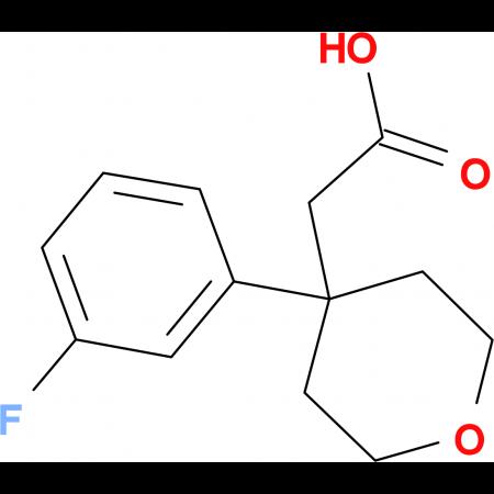 2-[4-(3-Fluorophenyl)-tetrahydro-2H-pyran-4-yl]acetic acid