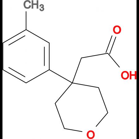 2-(4-m-Tolyl-tetrahydro-2H-pyran-4-yl)acetic acid