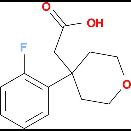 2-[4-(2-Fluorophenyl)-tetrahydro-2H-pyran-4-yl]acetic acid