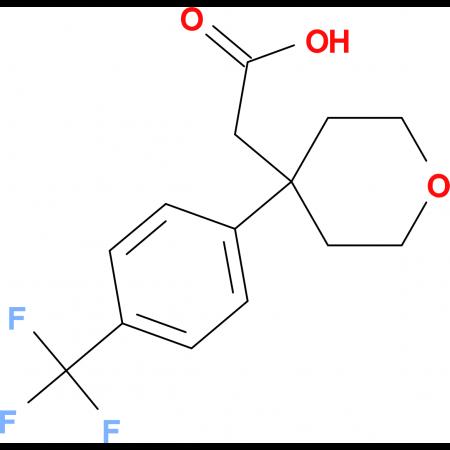 2-{4-[4-(Trifluoromethyl)phenyl]oxan-4-yl}acetic acid