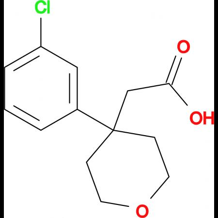 2-[4-(3-Chlorophenyl)-tetrahydro-2H-pyran-4-yl]acetic acid