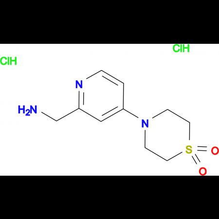 4-[2-(Aminomethyl)pyridin-4-yl]-1lambda(6),4-thiomorpholine-1,1-dione dihydrochloride