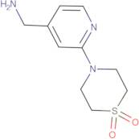 4-[4-(Aminomethyl)pyridin-2-yl]-1lambda(6),4-thiomorpholine-1,1-dione
