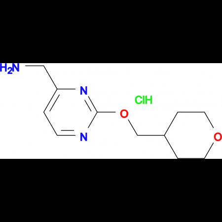 [2-(Oxan-4-ylmethoxy)pyrimidin-4-yl]methanamine hydrochloride
