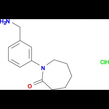1-[3-(Aminomethyl)phenyl]azepan-2-one hydrochloride