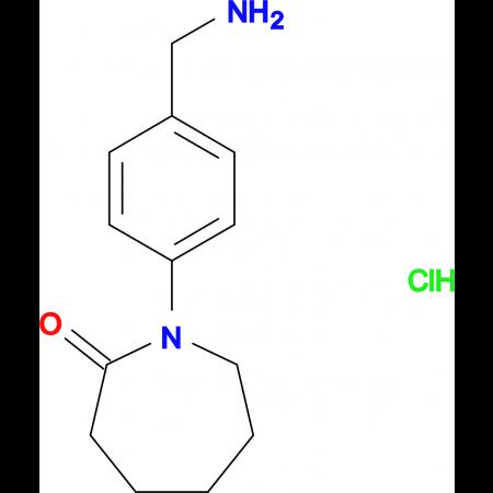 1-[4-(Aminomethyl)phenyl]azepan-2-one hydrochloride