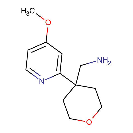 [4-(4-Methoxypyridin-2-yl)oxan-4-yl]methanamine