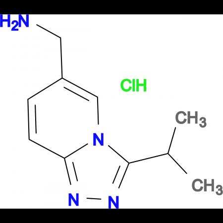 3-(Propan-2-yl)-[1,2,4]triazolo[4,3-a]pyridin-6-yl-methanamine hydrochloride