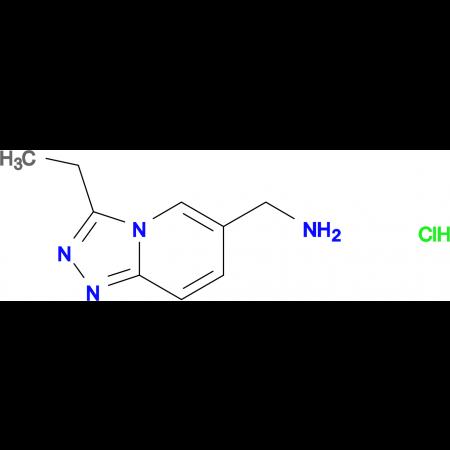3-Ethyl-[1,2,4]triazolo[4,3-a]pyridin-6-yl-methanamine hydrochloride