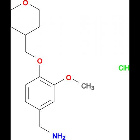 [3-Methoxy-4-(oxan-4-ylmethoxy)phenyl]methanamine hydrochloride