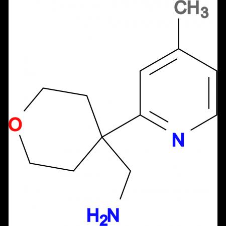[4-(4-Methylpyridin-2-yl)oxan-4-yl]methanamine