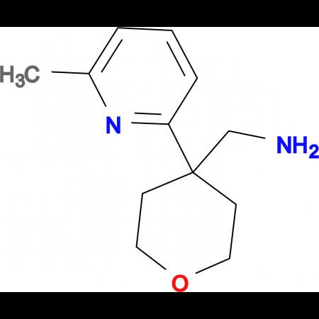 [4-(6-Methylpyridin-2-yl)oxan-4-yl]methanamine