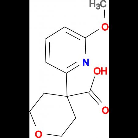 4-(6-Methoxypyridin-2-yl)oxane-4-carboxylic acid