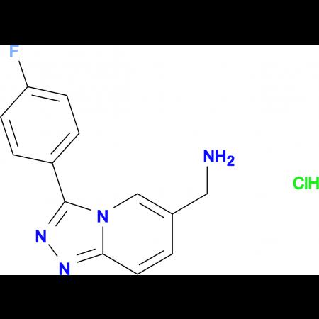 [3-(4-Fluorophenyl)-[1,2,4]triazolo[4,3-a]pyridin-6-yl]methanamine hydrochloride