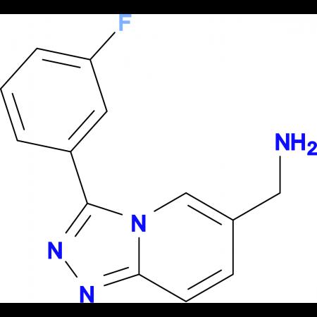 [3-(3-Fluorophenyl)-[1,2,4]triazolo[4,3-a]pyridin-6-yl]methanamine