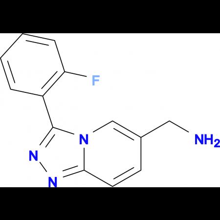 [3-(2-Fluorophenyl)-[1,2,4]triazolo[4,3-a]pyridin-6-yl]methanamine