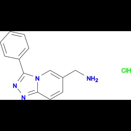 3-Phenyl-[1,2,4]triazolo[4,3-a]pyridin-6-yl-methanamine hydrochloride