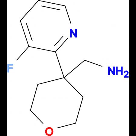 [4-(3-Fluoropyridin-2-yl)oxan-4-yl]methanamine