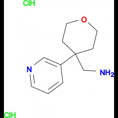 [4-(Pyridin-3-yl)oxan-4-yl]methanamine dihydrochloride
