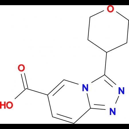 3-(Oxan-4-yl)-[1,2,4]triazolo[4,3-a]pyridine-6-carboxylic acid