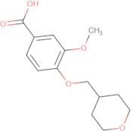3-Methoxy-4-(oxan-4-ylmethoxy)benzoic acid