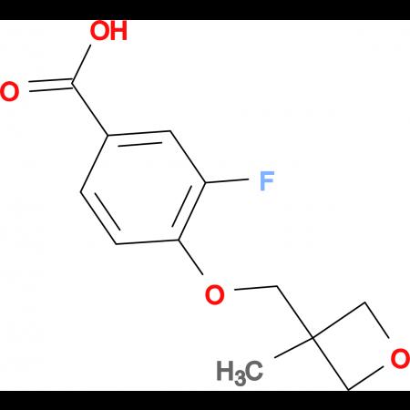 3-Fluoro-4-[(3-methyloxetan-3-yl)methoxy]benzoic acid