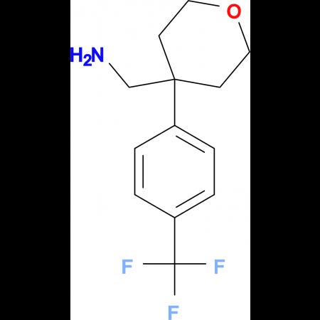 4-[4-(Trifluoromethyl)phenyl]oxan-4-yl-methanamine