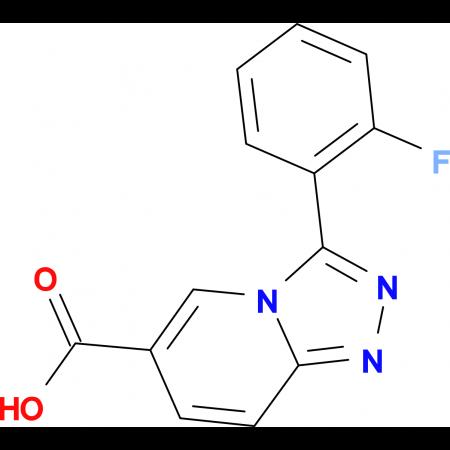 3-(2-Fluorophenyl)-[1,2,4]triazolo[4,3-a]pyridine-6-carboxylic acid
