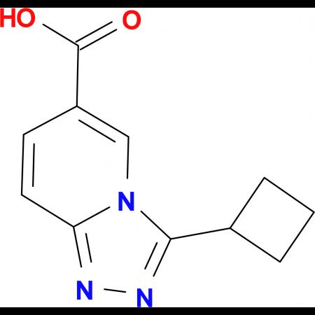 3-Cyclobutyl-[1,2,4]triazolo[4,3-a]pyridine-6-carboxylic acid