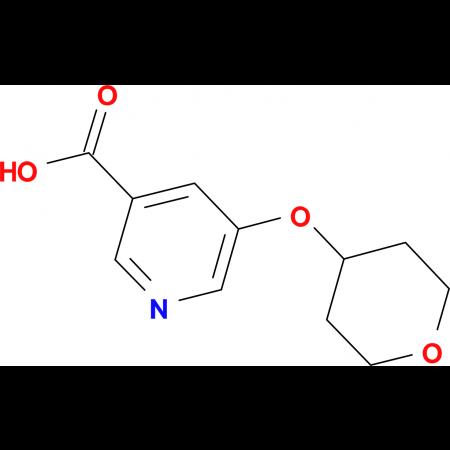 5-(Oxan-4-yloxy)pyridine-3-carboxylic acid