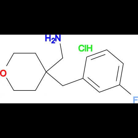 4-[(3-Fluorophenyl)methyl]oxan-4-yl-methanamine hydrochloride