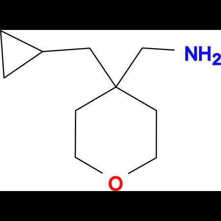 [4-(Cyclopropylmethyl)oxan-4-yl]methanamine