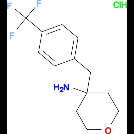 4-[4-(Trifluoromethyl)phenyl]methyl-oxan-4-amine hydrochloride