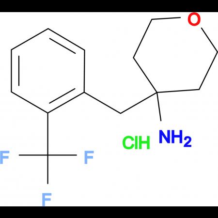 4-[2-(Trifluoromethyl)phenyl]methyl-oxan-4-amine hydrochloride