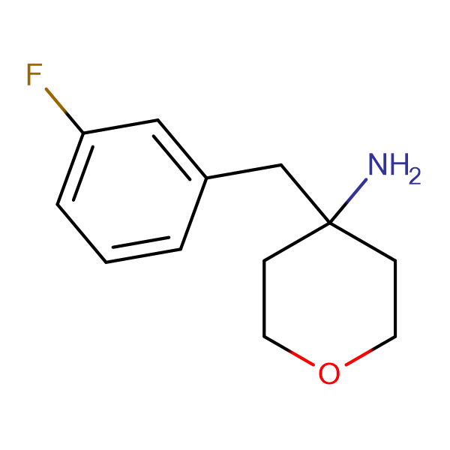 4-[(3-Fluorophenyl)methyl]oxan-4-amine