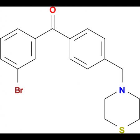 3-bromo-4'-thiomorpholinomethyl benzophenone
