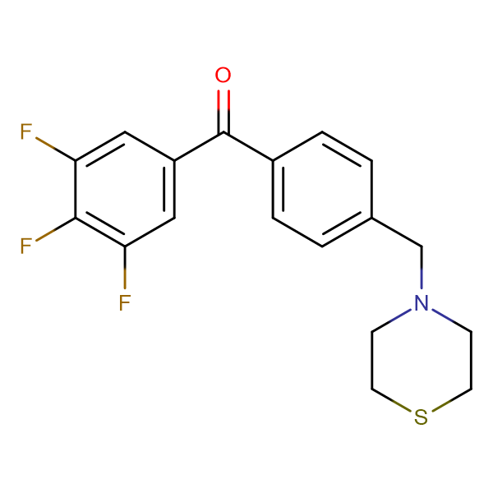4'-thiomorpholinomethyl-3,4,5-trifluorobenzophenone