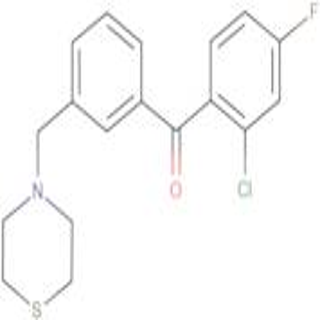 2-chloro-4-fluoro-3'-thiomorpholinomethyl benzophenone