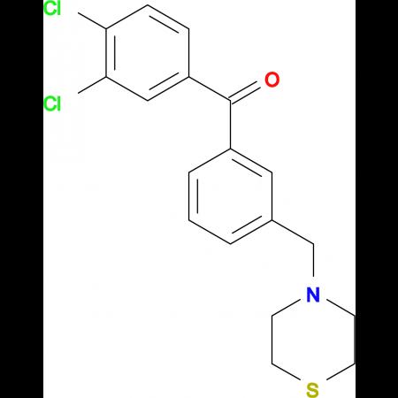 3,4-dichloro-3'-thiomorpholinomethyl benzophenone