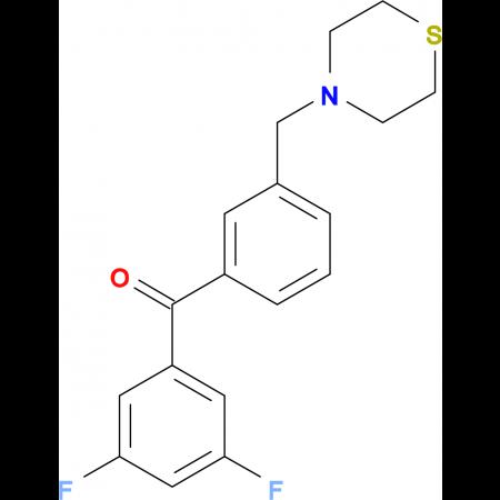 3,5-difluoro-3'-thiomorpholinomethyl benzophenone