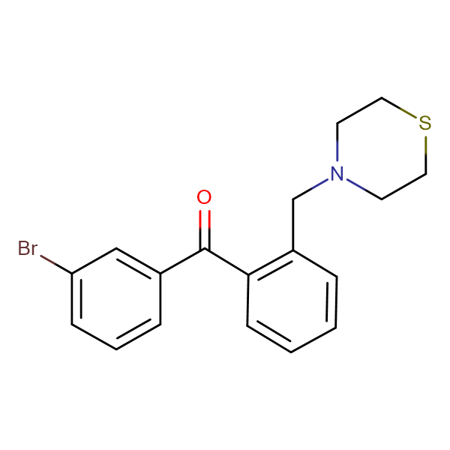 3'-bromo-2-thiomorpholinomethyl benzophenone