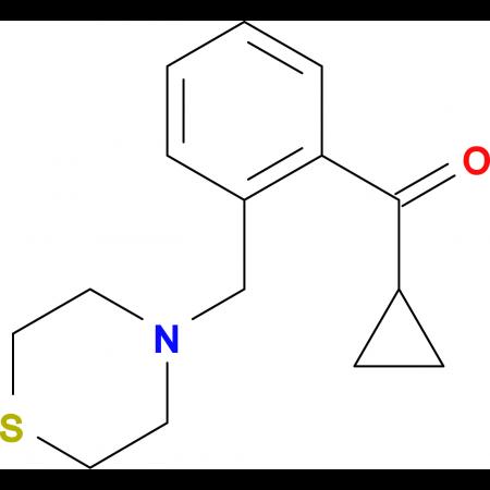 cyclopropyl 2-(thiomorpholinomethyl)phenyl ketone