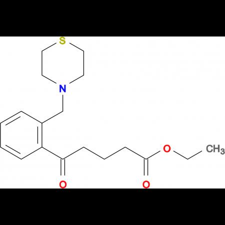 ethyl 5-oxo-5-[2-(thiomorpholinomethyl)phenyl]valerate