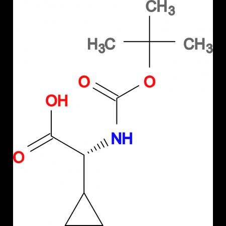 (R)-2-((tert-Butoxycarbonyl)amino)-2-cyclopropylacetic acid