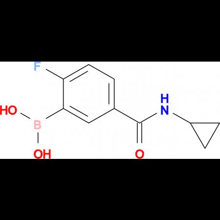 (5-(Cyclopropylcarbamoyl)-2-fluorophenyl)boronic acid