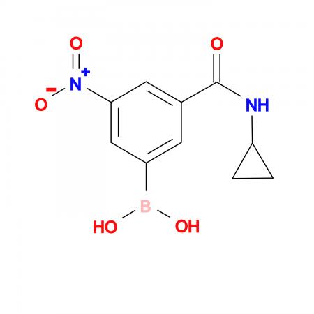 (3-(Cyclopropylcarbamoyl)-5-nitrophenyl)boronic acid