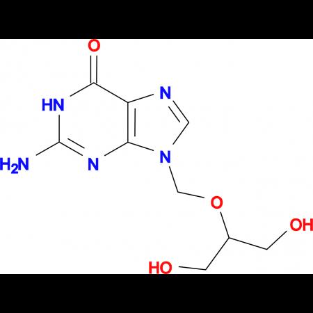 2-Amino-9-(((1,3-dihydroxypropan-2-yl)oxy)methyl)-1H-purin-6(9H)-one