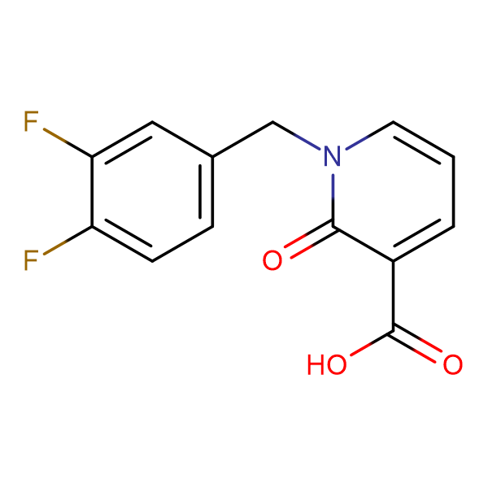 1-(3,4-Difluorobenzyl)-2-oxo-1,2-dihydropyridine-3-carboxylic acid
